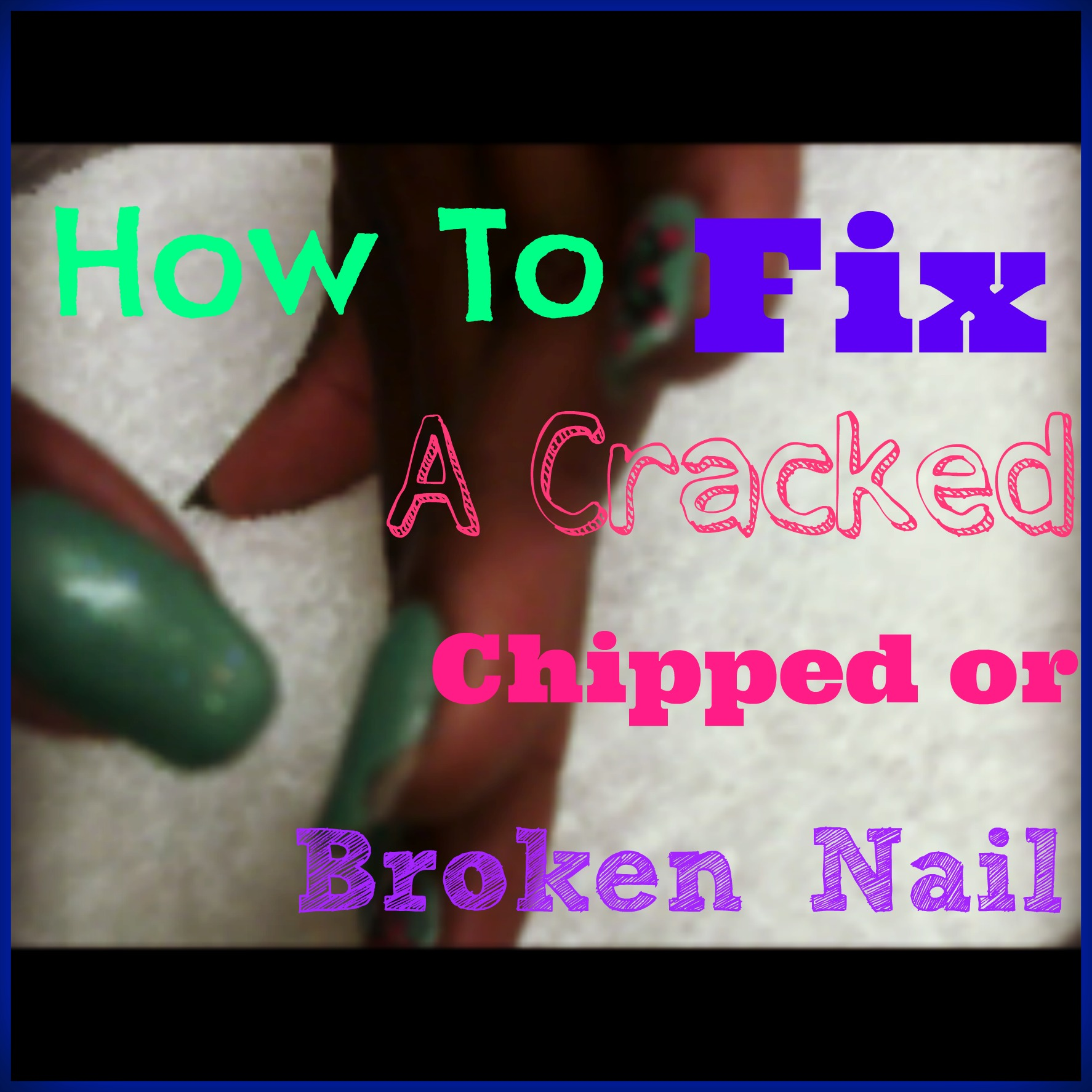 How To Fix A Cracked Chipped or Broken Acrylic or Gel Nail ...