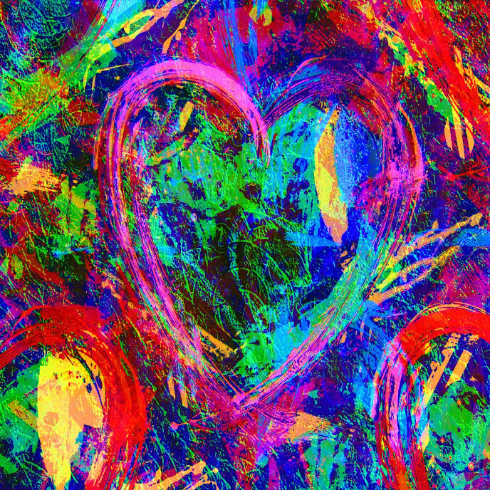 Had to end this off with a colorful heart. Nothing says valentines day or love or sweeties day like a heart shape. Enjoy, Happy Valentine's Day!
