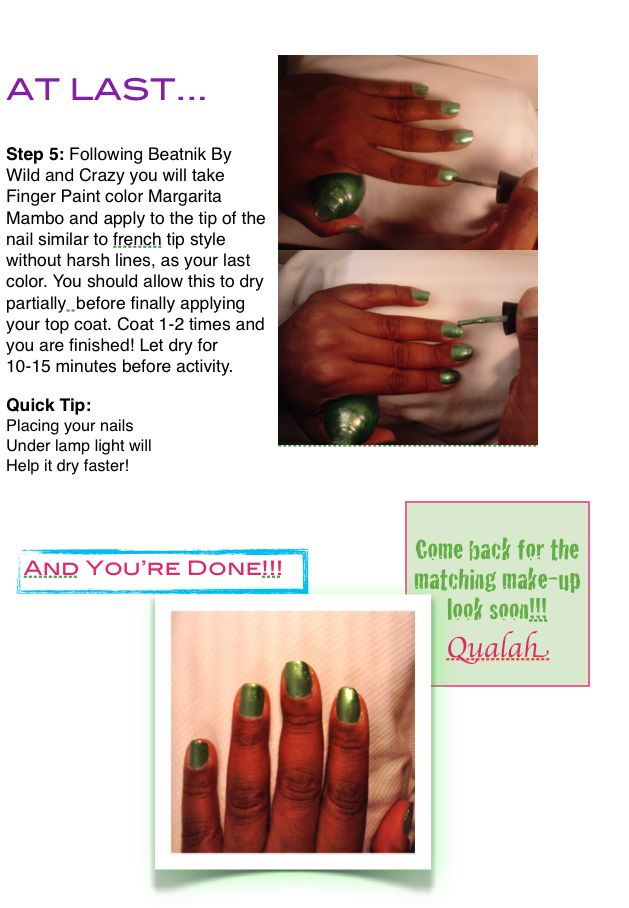 Green Nails Tutorial Picture 3