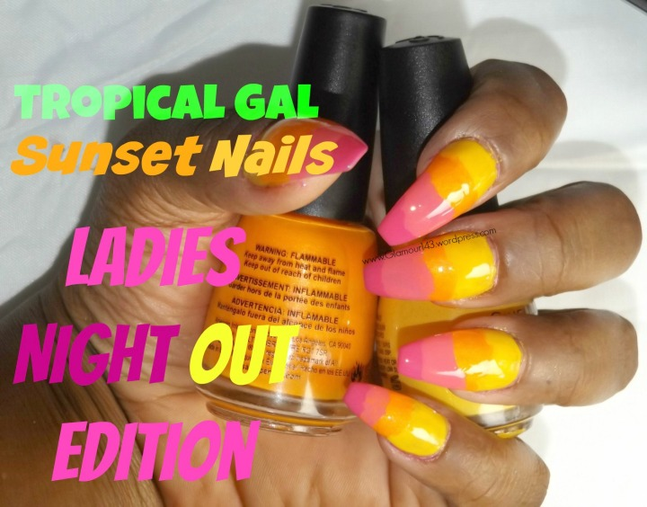 Steps to summer sunset nails