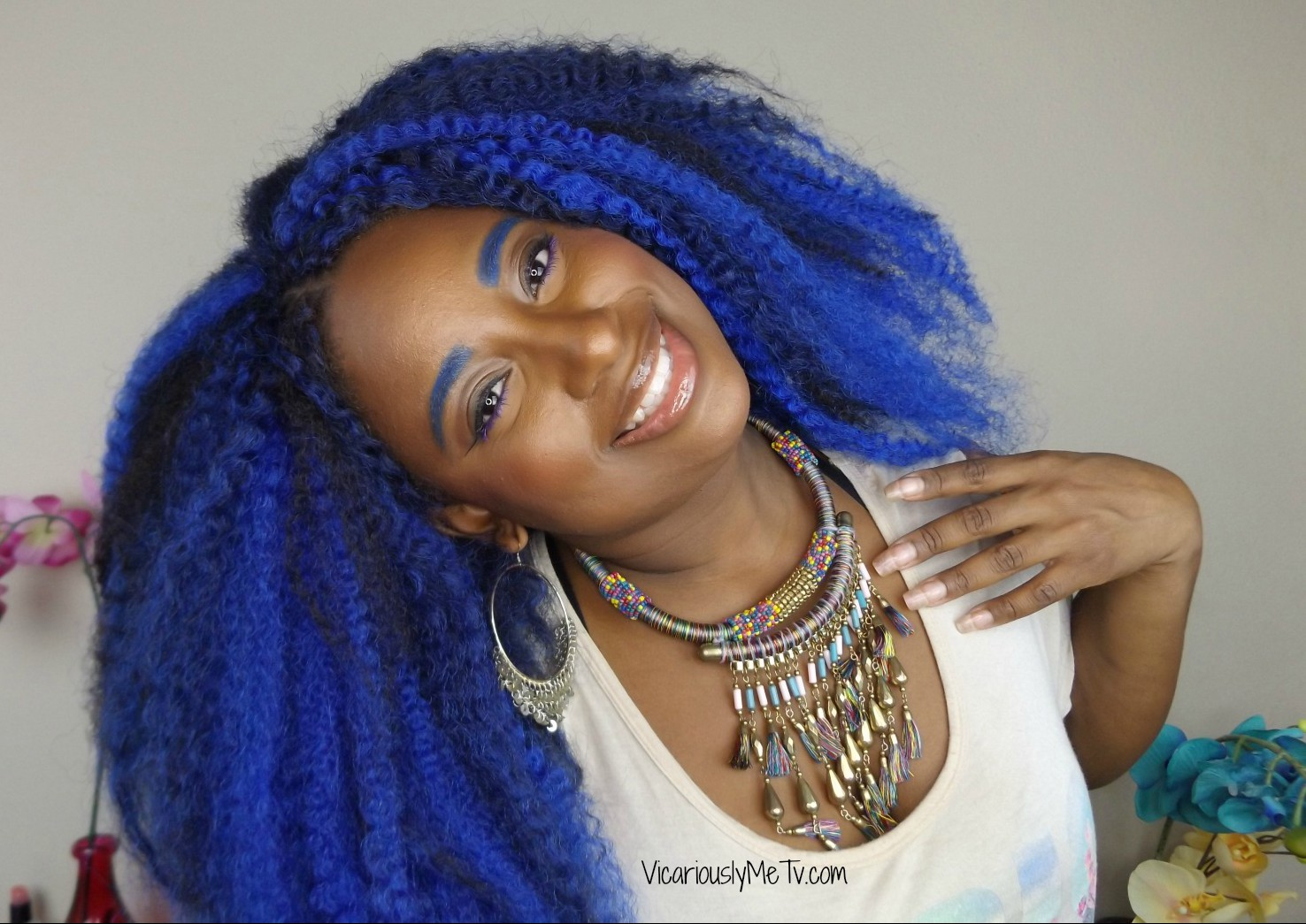 How To Do Crochet Braids Blue Ombre Hair u2013 Vicariously Me Blog | Natural Hairstyles | Fashion ...