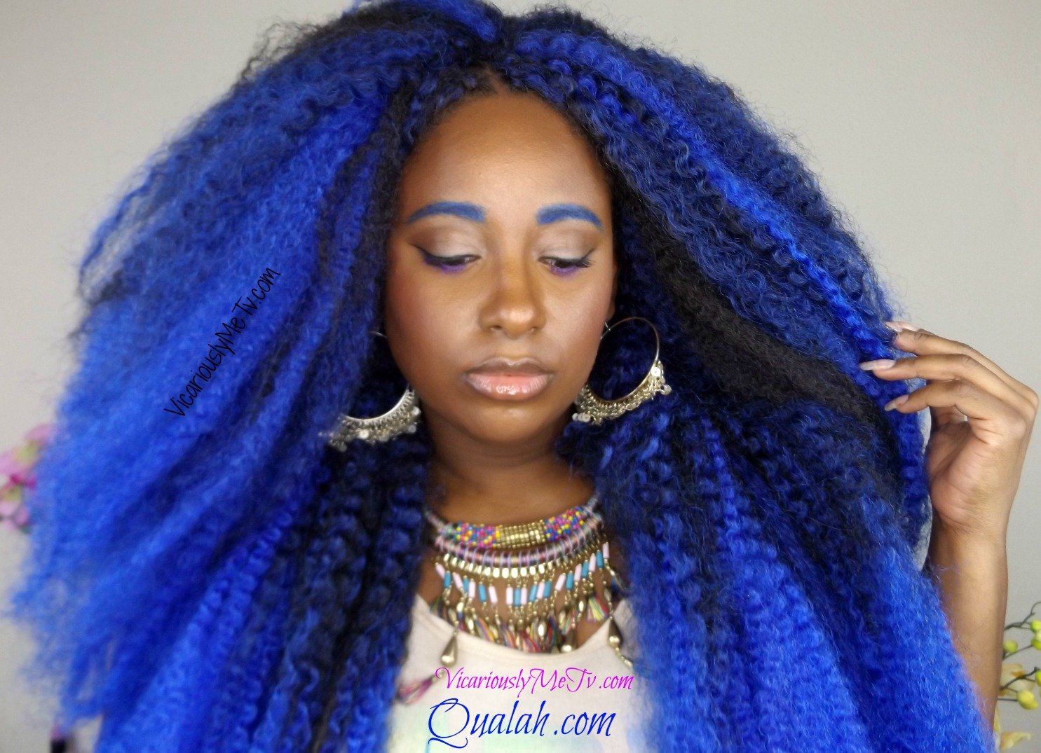 Crochet Braids Ombre Hair : How To Do Crochet Braids Blue Ombre Hair - Vicariously Me Blog ...