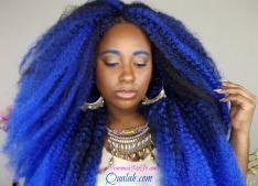 Crochet Braids Blue Ombre Hair