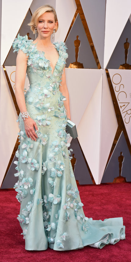 Cate Blanchatte in Armani and Tiffany & Co. Jewelry