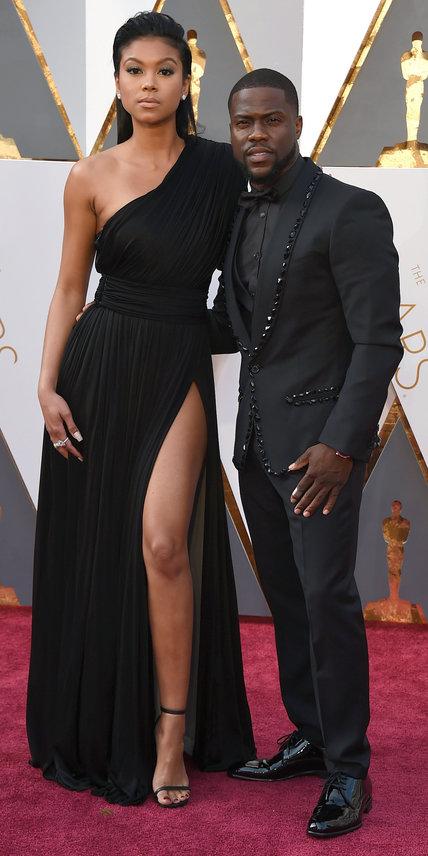 Kevin Hart Eniko Parrish Oscars arrivals