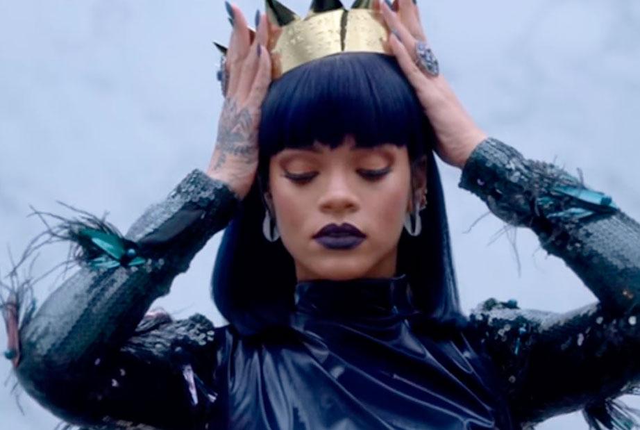 Rihanna Anti Crown Image Dark Lipstick look