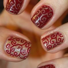 Nail designs perfect for the holiday season vicariously me blog short nail design for holidays prinsesfo Images