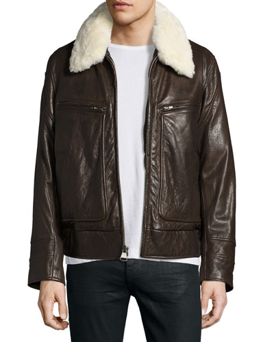 Leather Jacket Coat For Men