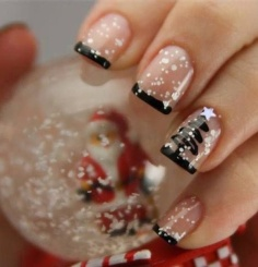 Short Nail design for winter or holiday