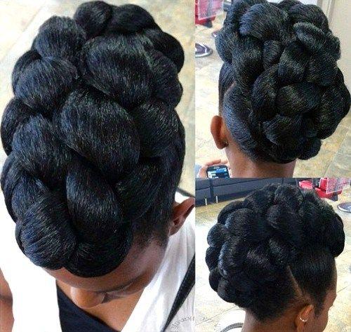 5 Beautiful Natural Hair Updo\'s – Vicariously Me | Natural ...