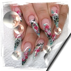 Ms. Santa Stiletto nails