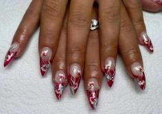 Christmas themed nail design