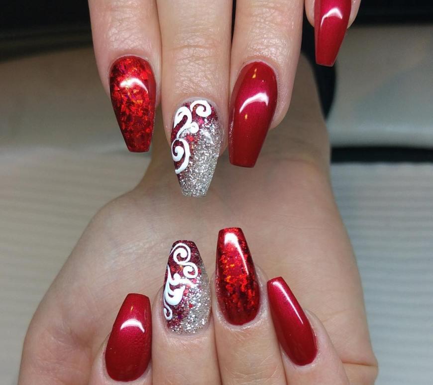 Acrylic nail design vicariously me blog natural hairstyles nail designs perfect for the holiday season prinsesfo Choice Image
