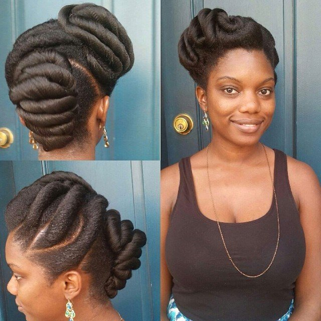 Natural hair style updos