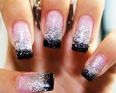 Medium length nail design