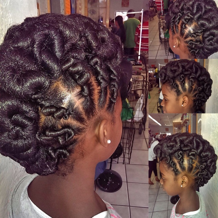 Twisted Updo Mohawk Hairstyle