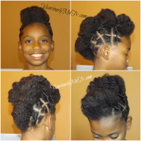 Cute Twisted Mohawk Updo Hairstyle A Natural Hair Tutorial