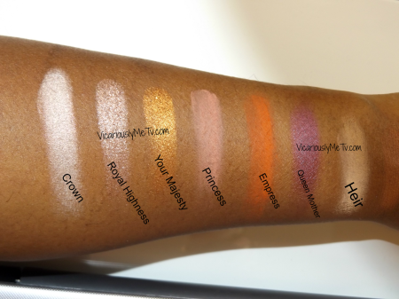 Swatches for Coloured Raine Palette