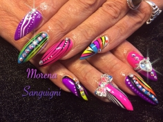 Vibrant summer nail design