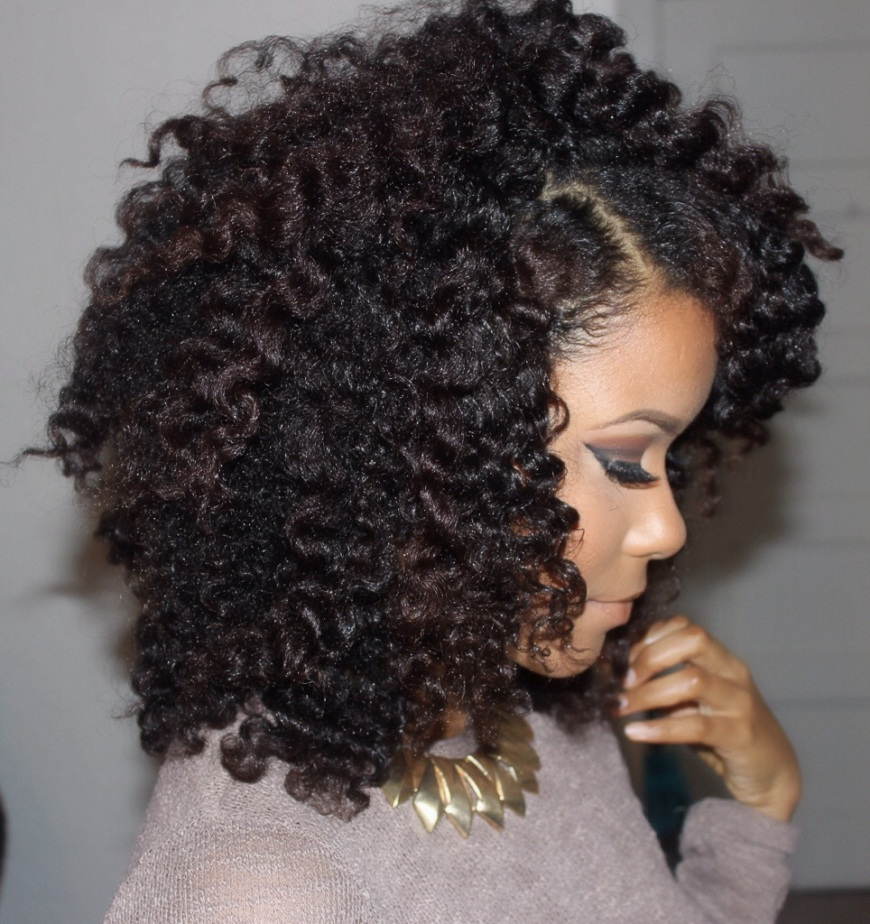 Black hairstyle on natural hair