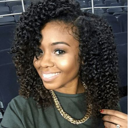 BraidOut on medium length hair black women hairstyles