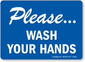 Wash your hands when you use the bathroom