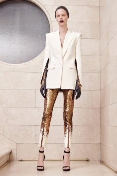 Atelier Versace So these gold pants with this slit sleeve blazer.... GIRL THIS IS CUTE!!!!