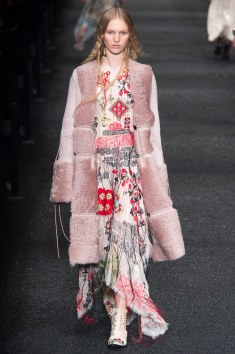 Alexander McQueen Blush Pink Suede and Fur Coat!!! Omg This piece is simply stunning and I am excited to see these designs in stores.