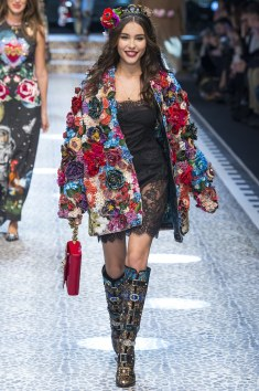 Dolce and Gabbana Honestly just about every season D&G get me all the way together. This Floral jacket brings vibarance and price tag. lol Love it!