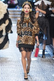 "Dolce and Gabbana ""Im the Queen"" Sweater Dress. Of couse I can see those black Thigh Highs..."