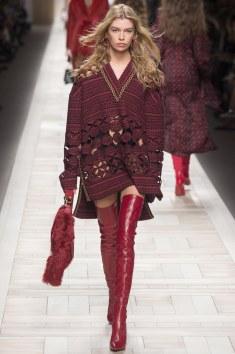 Fendi Oversized Dress w/ Thigh High Boots