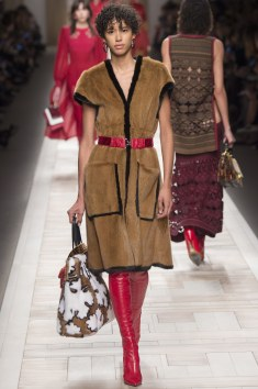 Fendi Short Sleeve Long Fur Dress/Trench w/Thigh High Boots!