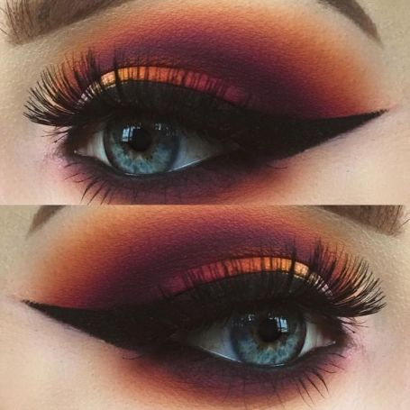 RED SMOKEY EYE