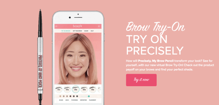 Benefit brow try on app