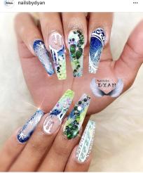 Coffin nail art IG nail artists