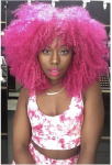 Pink Crochet natural hairstyles