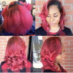 Red on natural hair