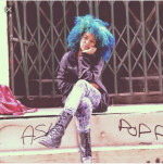 Blue and Green natural hair