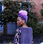 Pink and Purple hair color on natural hair