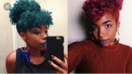 Green and red natural hair color