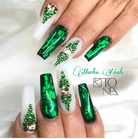 Green St. Patrick's Day Nails