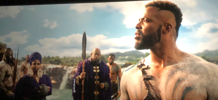 Scene from black panther movie in the river