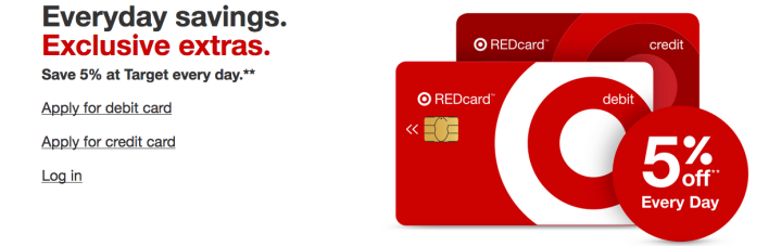 Get a target red card to save 5% everyday