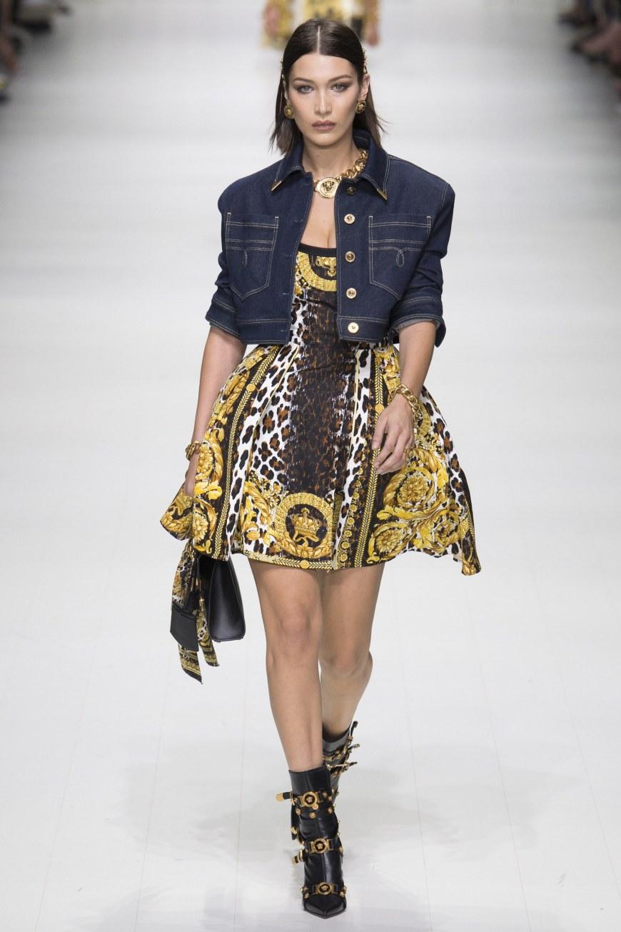 Bella Hadid Versace Spring 2018 Collection
