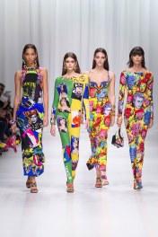 Yasmin Wijnaldum, Kaia Gerber, Mica Arganaraz, Vittoria Ceretti Versace Ready To Wear Spring