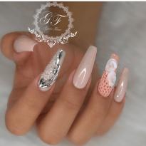 Coffin shaped nail design ideas