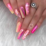 ballerina Circus colored nail designs