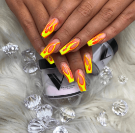 Fire Flame nail design ideas