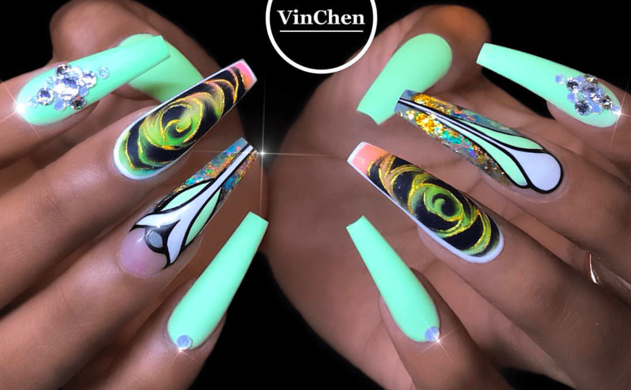 Best Coffin Shaped Nail Designs Killin the Game 2018 – Vicariously ...