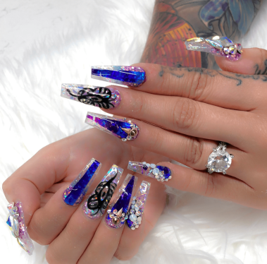 Beautiful blue nail designs